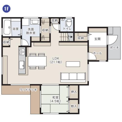 可児市モデルハウス1階