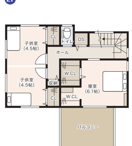 可児市モデルハウス2階