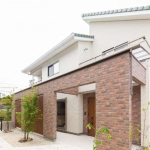 レンガ調のファサードがおしゃれな中津川モデルハウス 詳細ページを公開致しました!