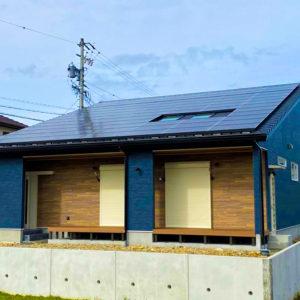 多治見市小泉町 柱の無い5.5m幅のLDK(勾配天井付き)のある平屋の家 施工実例を追加致しました
