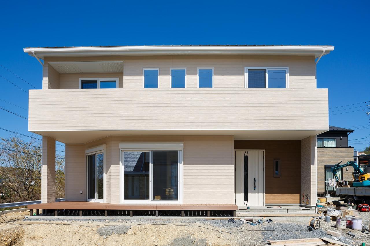 土岐市下石陶史台 縦横斜めのこだわり空間とミッキーマウス外壁のある家 施工実例を追加致しました