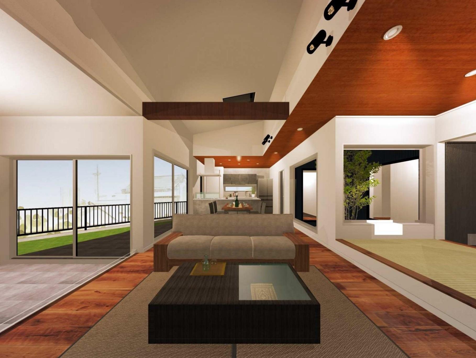 「中庭と薪ストーブのある家」図面作成してみました!VRで実際に建物の中に入ってみましょう😆